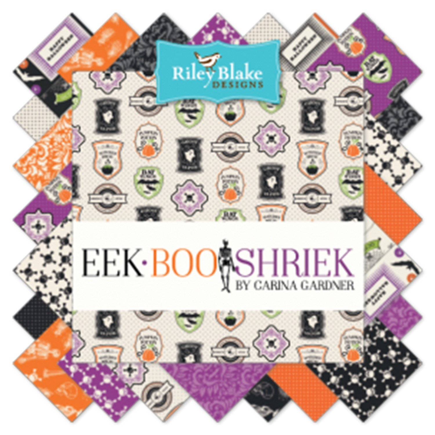 Riley Blake - Eek Boo Shreik - 10in Squares