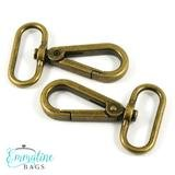 Emmaline - Swivel Snap Hooks Flat : 1 1/4 (38mm) Gold 2ct