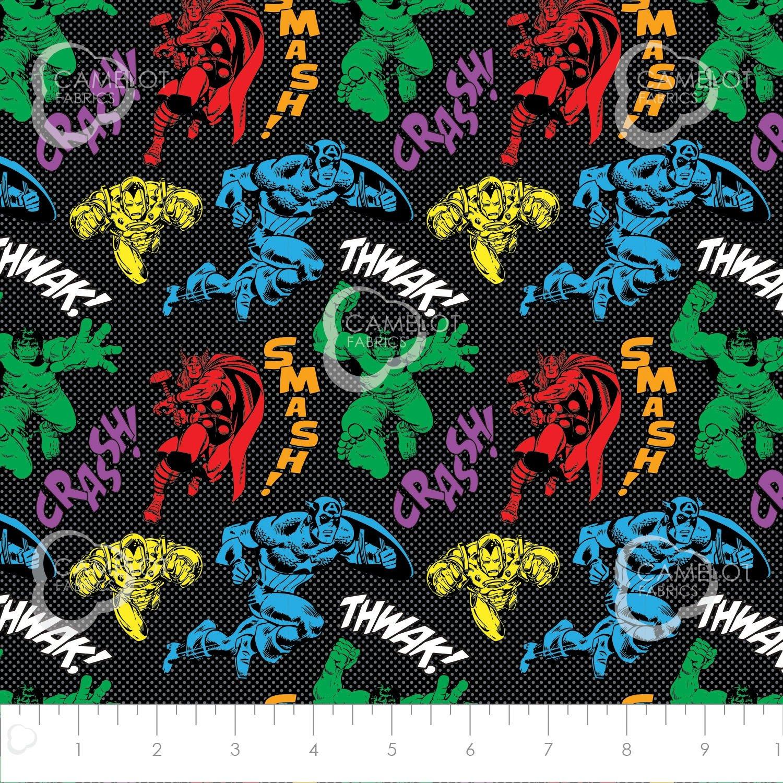 Camelot Fabrics  - Avengers - Avenger's Unite - Black