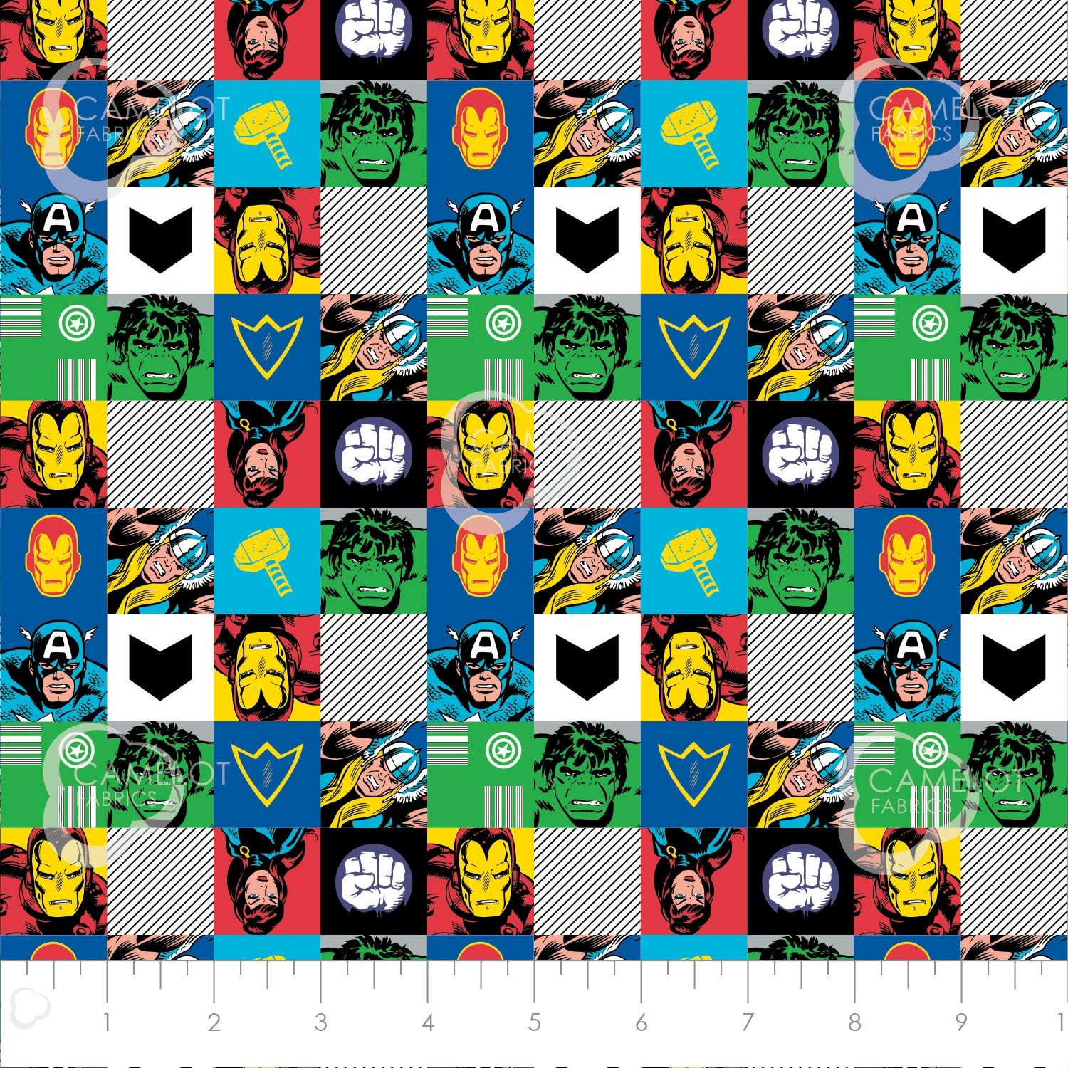 Camelot Fabrics  - Avengers - Check Out These Hero's - Multi