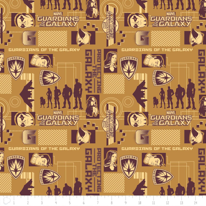 Camelot Fabrics  - Marvel Comics - Guardians of the Galaxy - Silouhettes