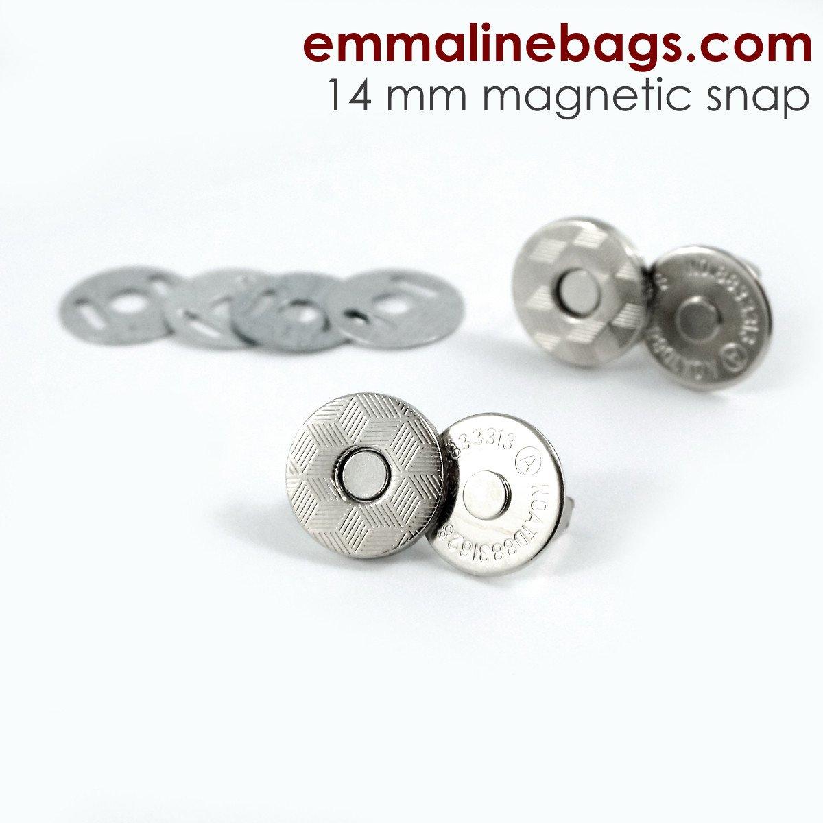 Emmaline - Magnetic Snap Closures: 9/16 (14 mm) SLIM Nickel 2ct