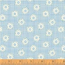 Windham Fabrics - 1930's Reproduction Backing - Blue Minature Flowers