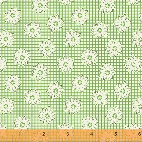 Windham Fabrics - 1930's Reproduction Backing - Green Minature Flowers