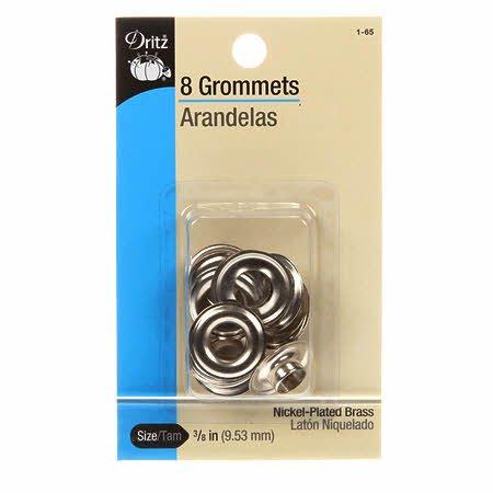 Dritz - 8 Grommets - Nickel-plated 3/8