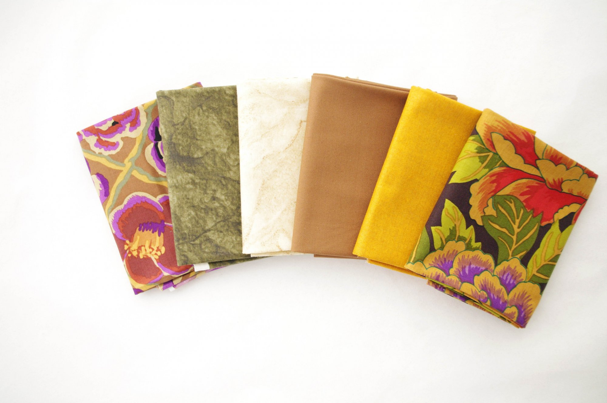 Cindy-rella's Assorted 6FQ Bundle - Kaffe Fassett -Yellow and Brown