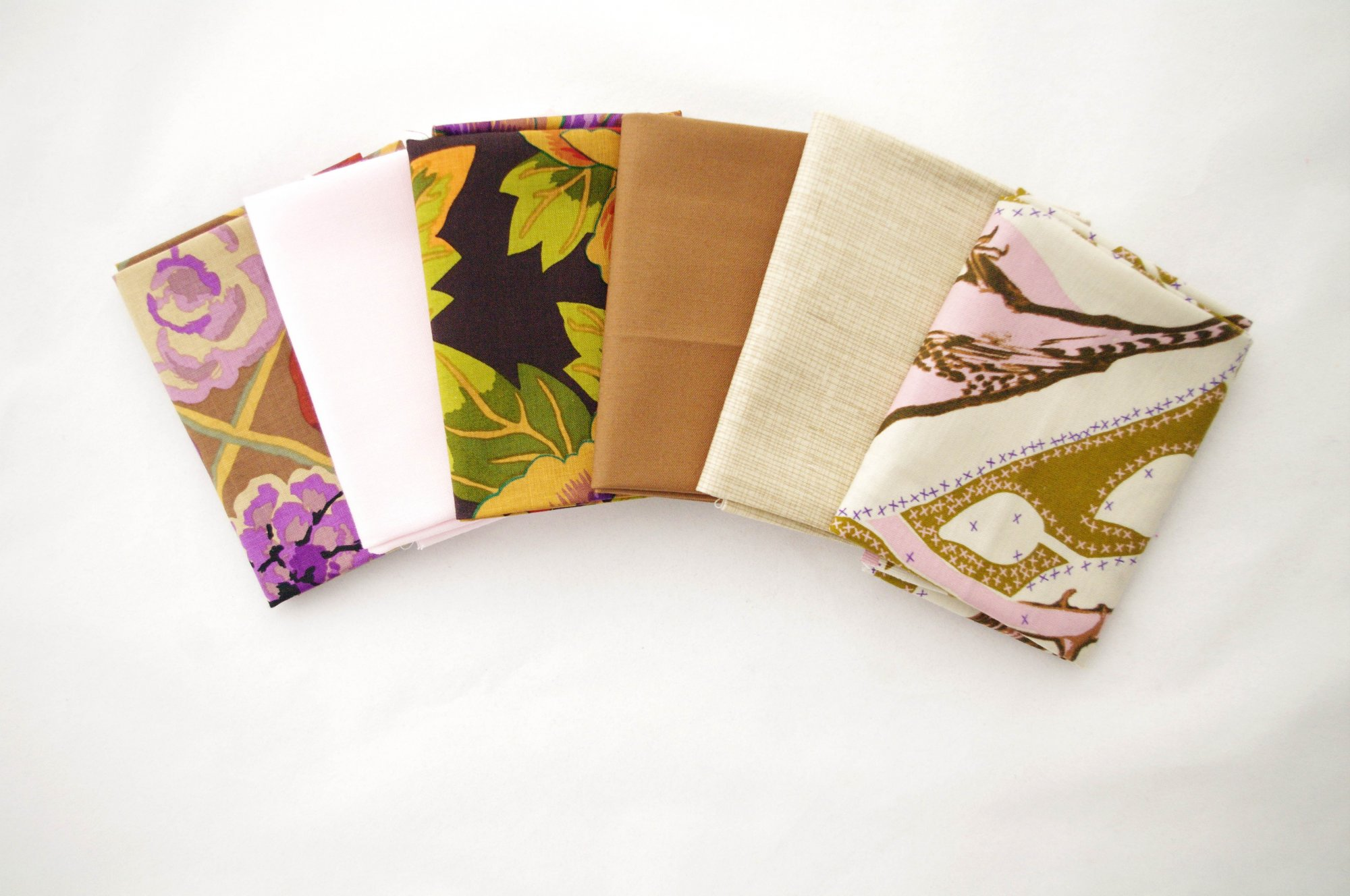 Cindy-rella's Assorted 6FQ Bundle - Kaffe Fassett - Pink and Brown