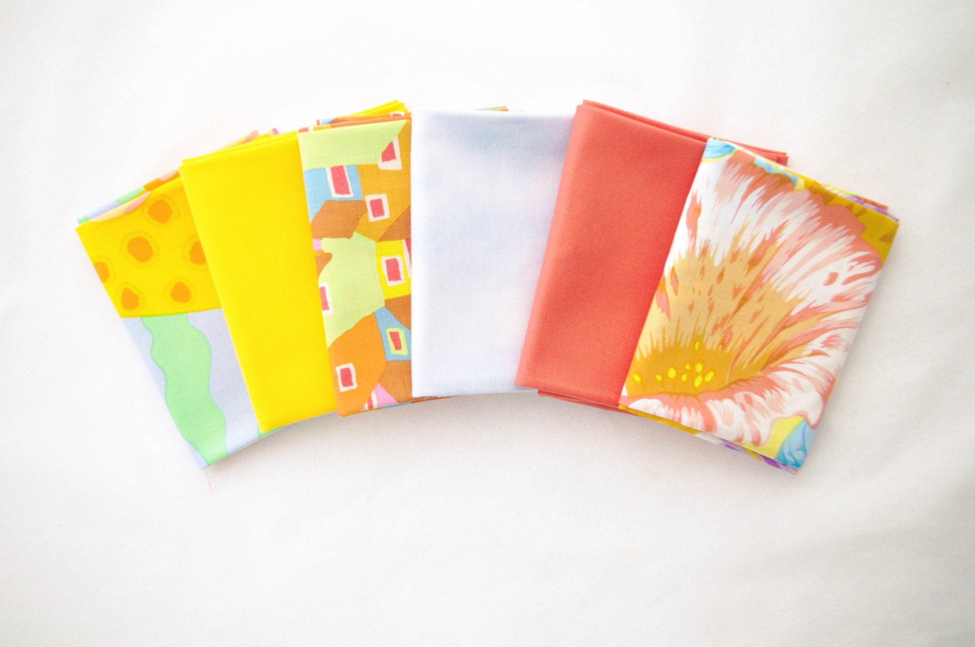 Cindy-rella's Assorted 6FQ Bundle - Kaffe Fassett - Yellow and Coral