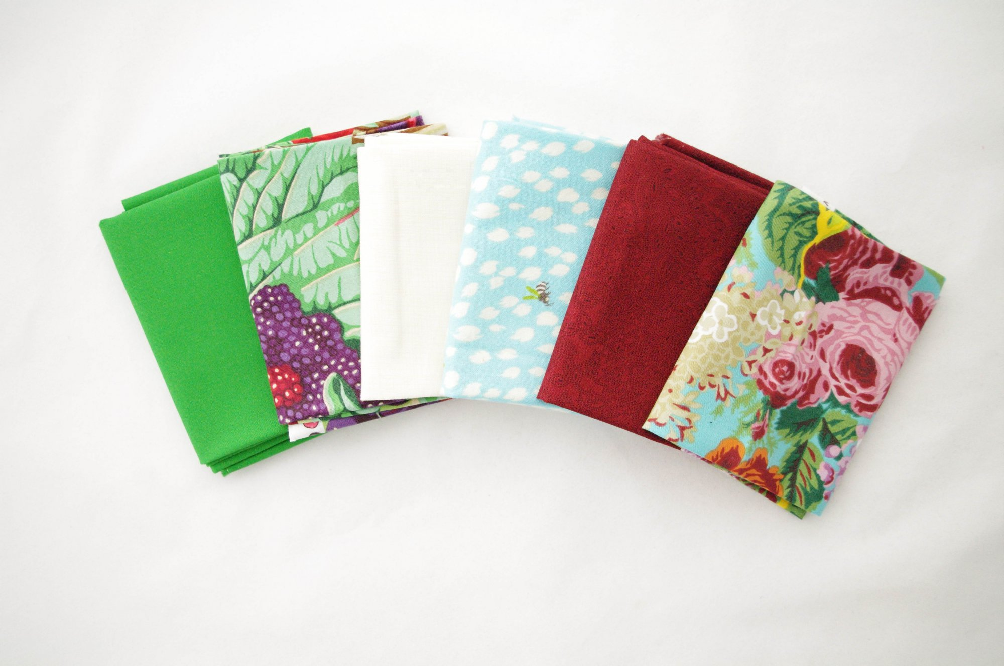 Cindy-rella's Assorted 6FQ Bundle - Kaffe Fassett - Green and Red
