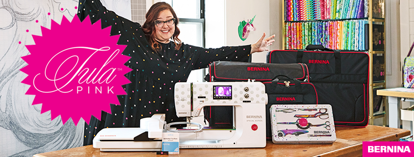 Bernina 770QE - Tula Pink Special Edition with emb
