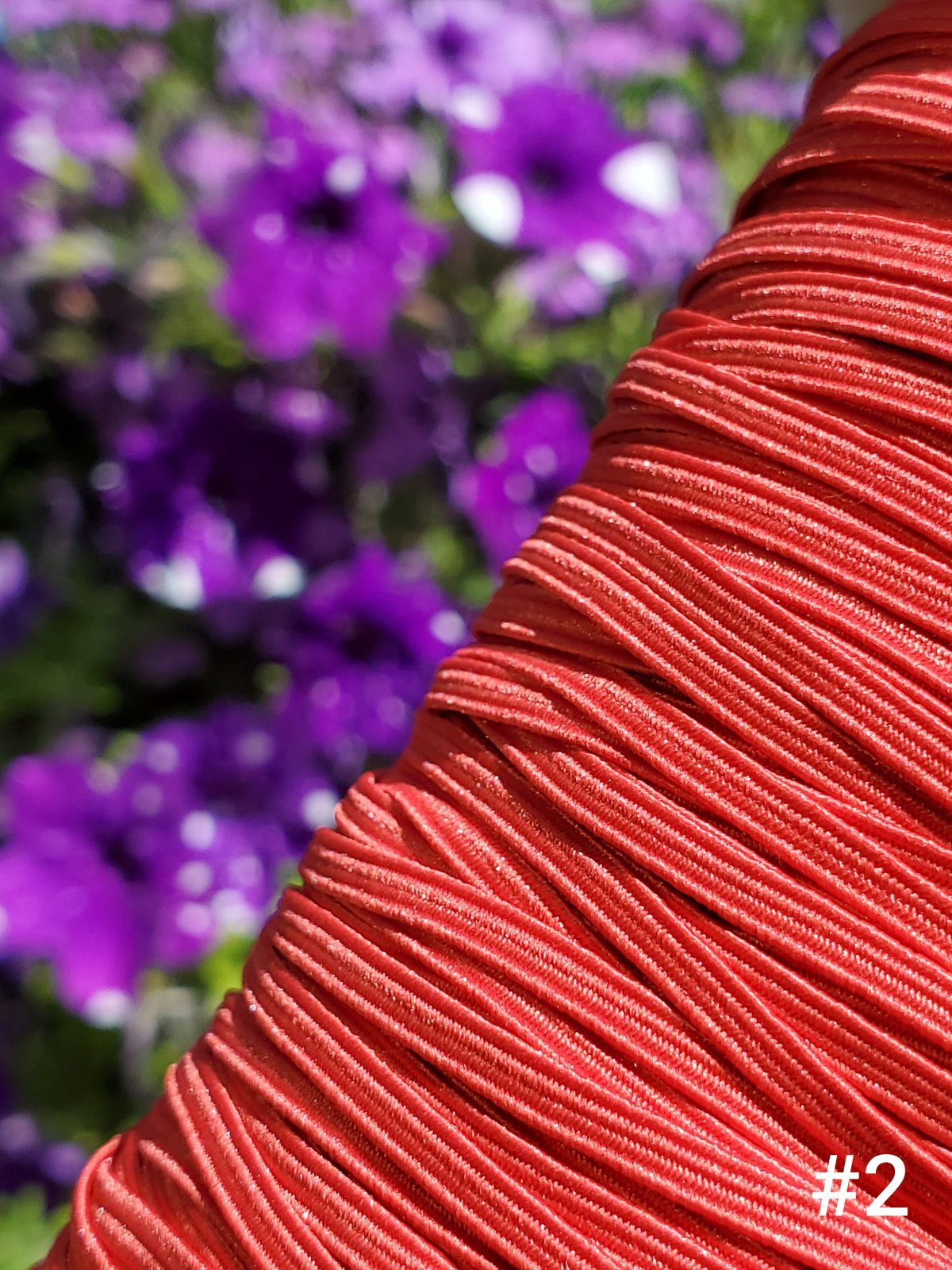 Cindy-rellas 1/8 inch (3mm) Elastic - Med Red