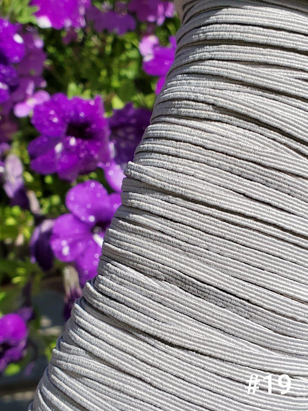 Cindy-rellas 1/8 inch (3mm) Elastic  - Light Grey