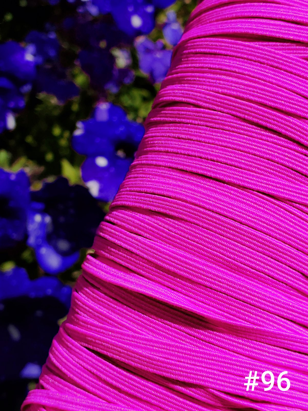 Cindy-rellas 1/8 inch (3mm) Elastic  - Hot Pink