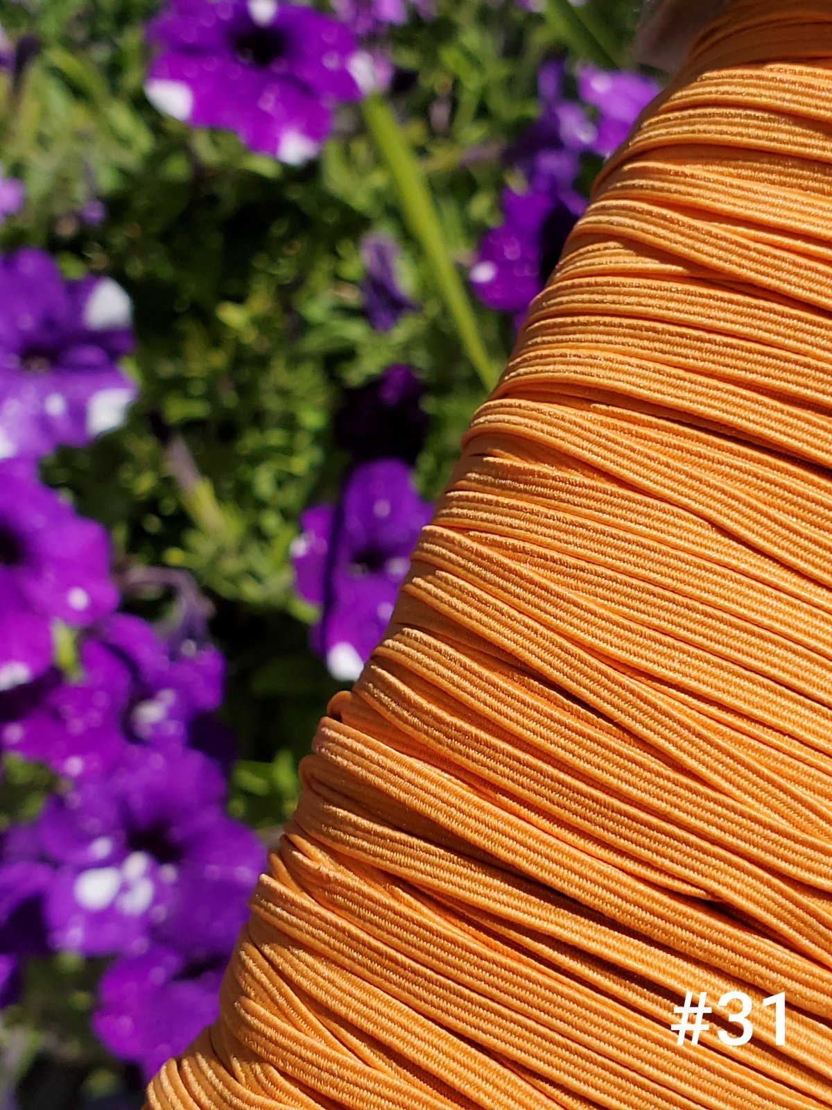 Cindy-rellas 1/8 inch (3mm) Elastic - Light Orange