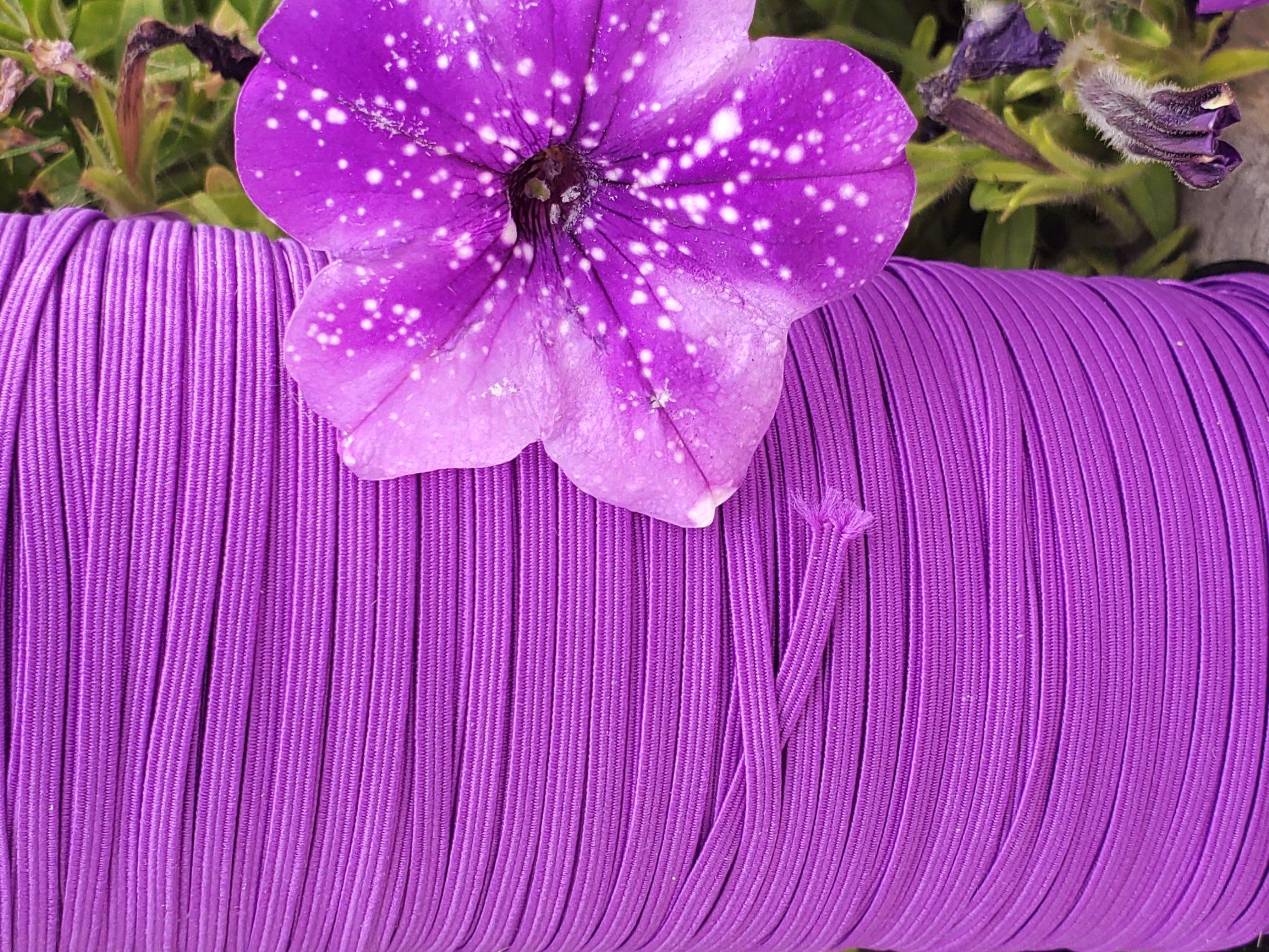 Cindy-rellas 1/8 inch (3mm) Elastic  - Violet Purple