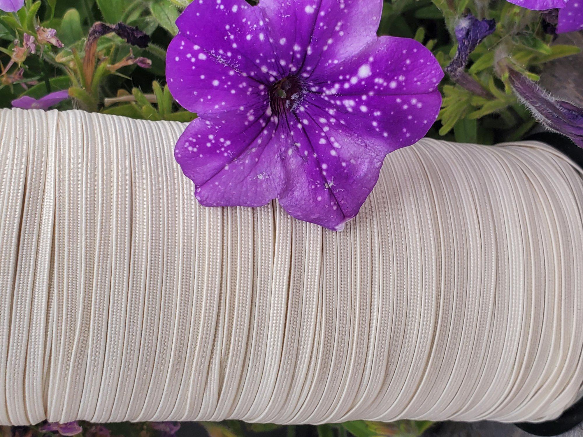 Cindy-rellas 1/8 inch (3mm) Elastic  - Cream