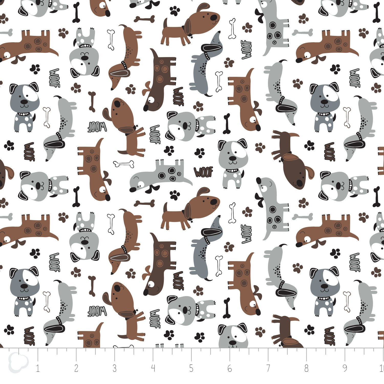 Camelot Fabrics  - Dogs - Printed Flannel