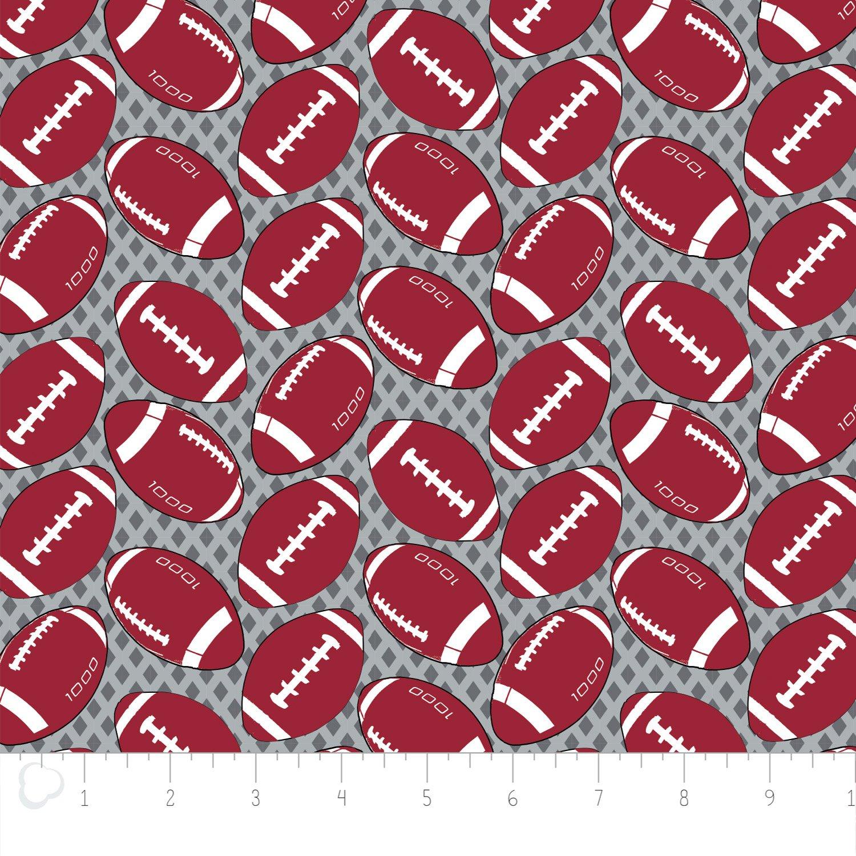 Camelot Fabrics  - Footballs - Printed Flannel