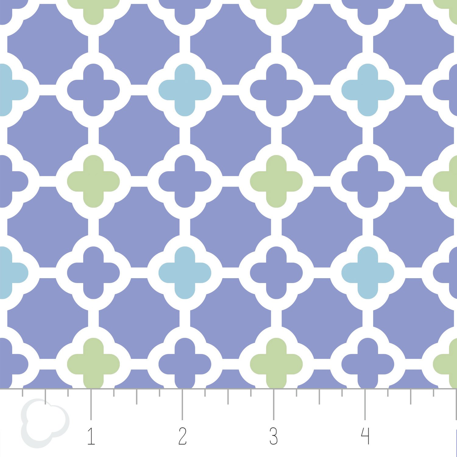 Camelot Fabrics - Clover Printed Flannel - Lavender