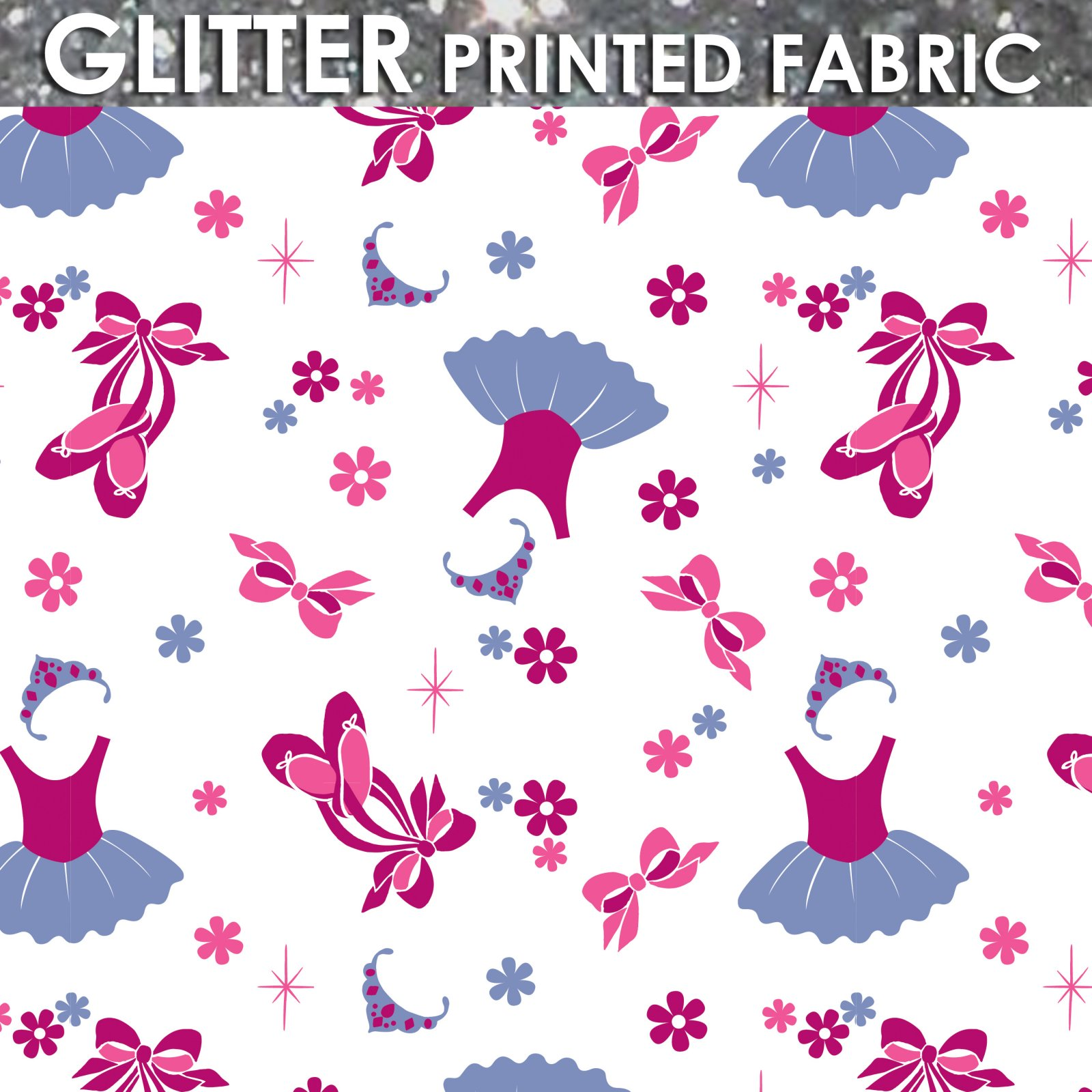 Camelot Fabrics  - Ballet with Glitter - Printed Flannel
