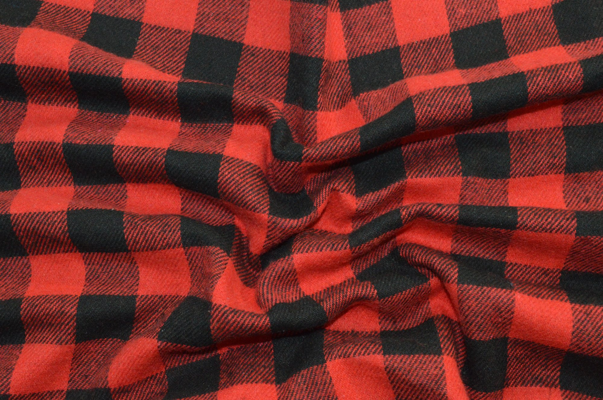 Flannel Plaid Red and Black