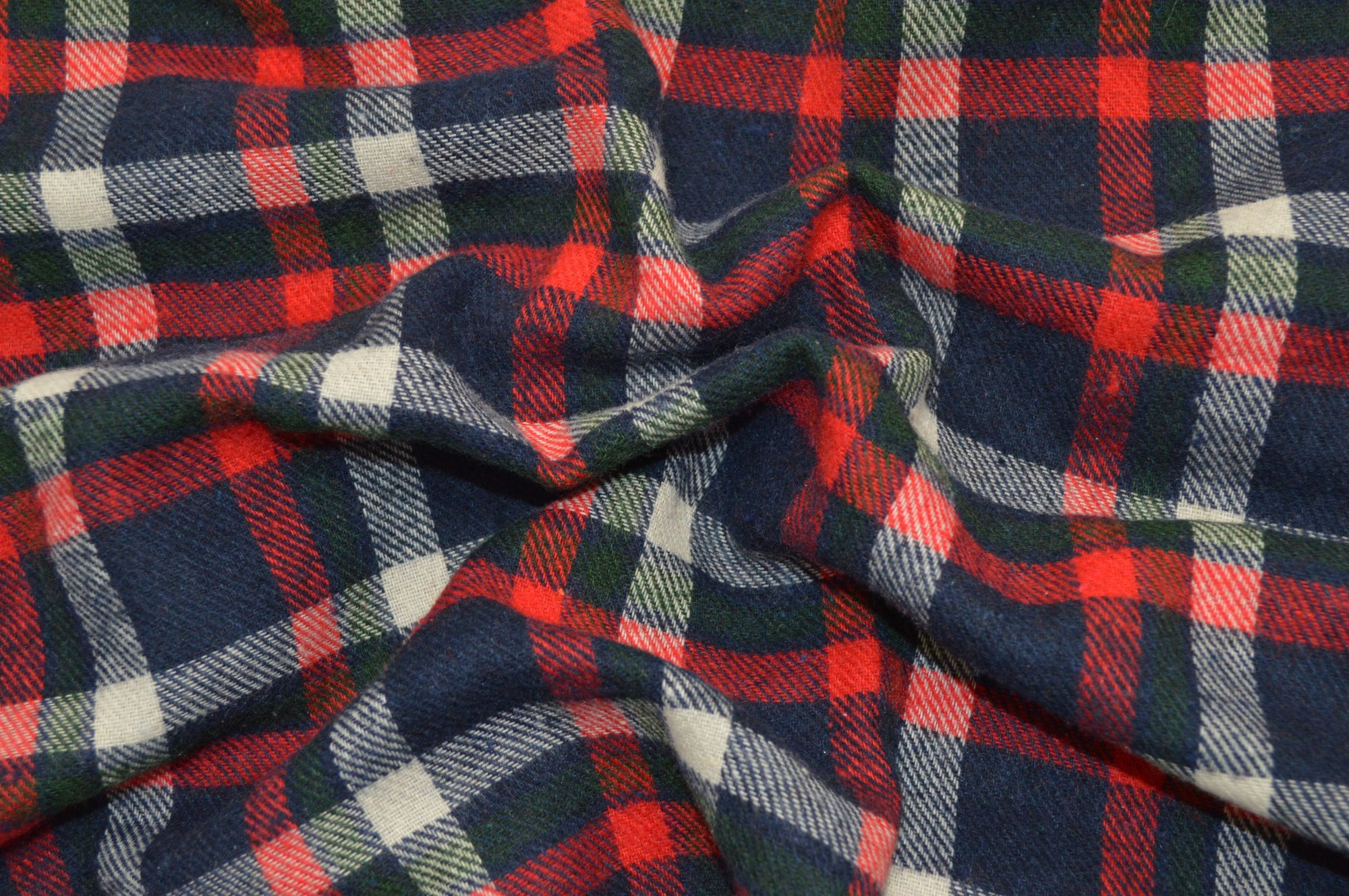 Flannel Plaid - Red and Navy