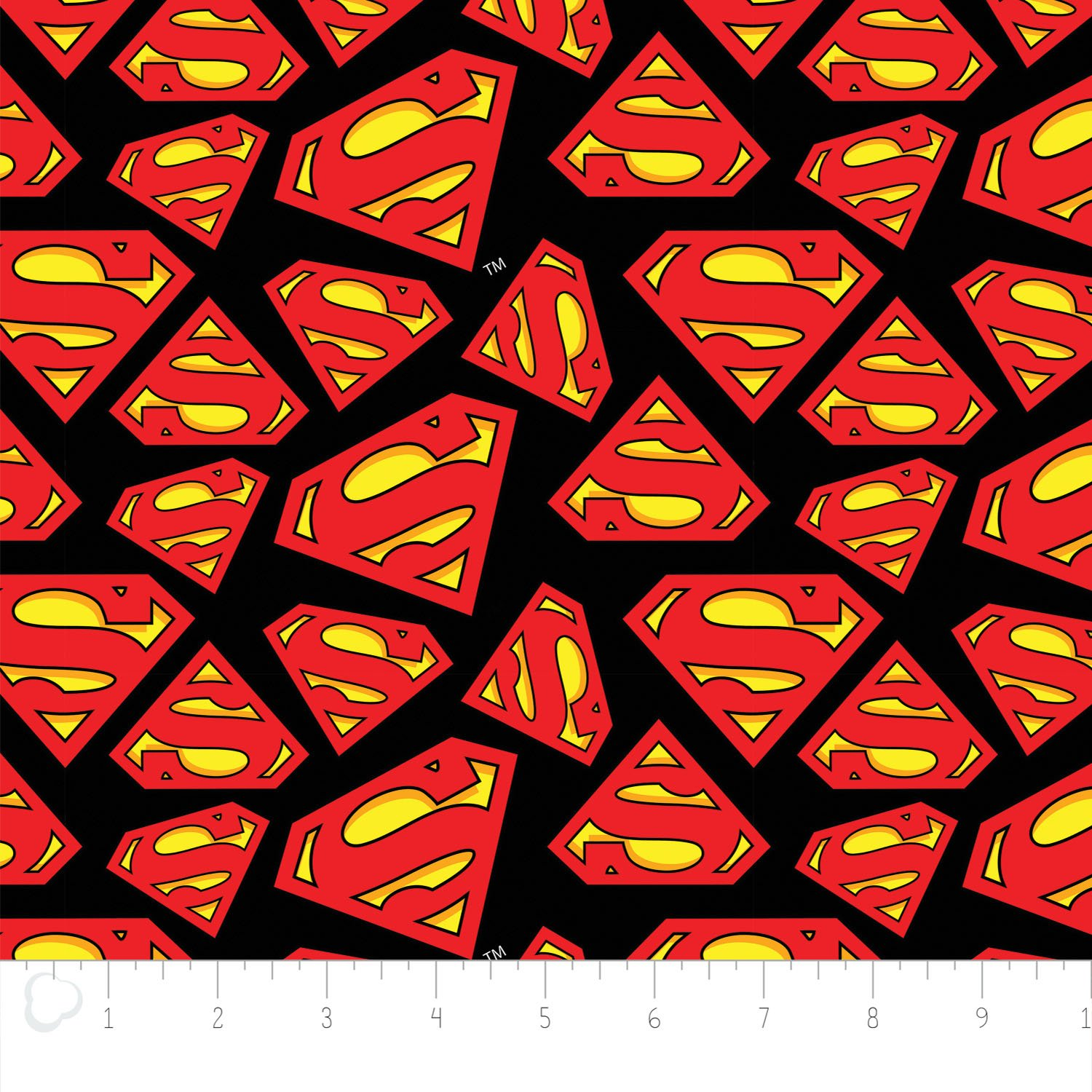 Camelot Fabrics  - Superman Logo - Printed Flannel