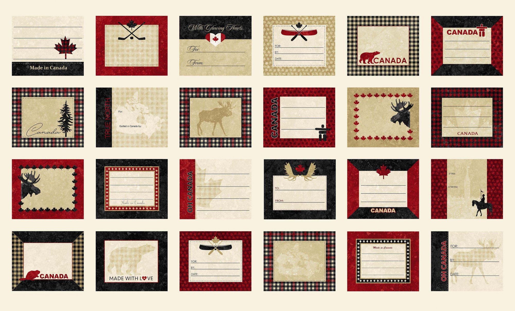 Oh Canada 8 - Stonehenge Quilt Labels