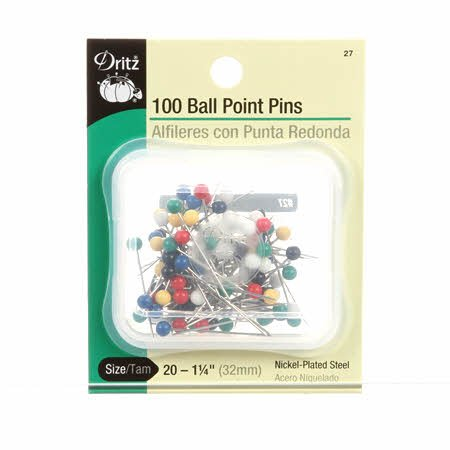 Dritz - Ball Point Pins - Colour Head - 100 CT Size 20