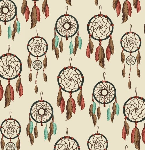 Baum Textile Mills - Dreamcatcher Cream - Winter Fleece