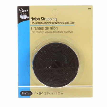 Dritz - Nylon Strapping - 1 x 60 Black