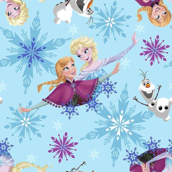 Springs Creative - Frozen - Sisters Ice Skating Snowflake Badge Toss - Fleece