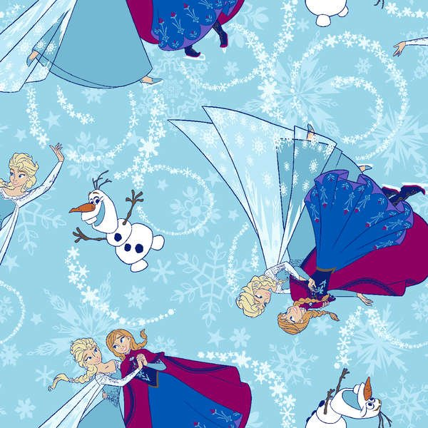Springs Creative - Frozen - Sisters Ice Skating Toss - Glitter Cotton