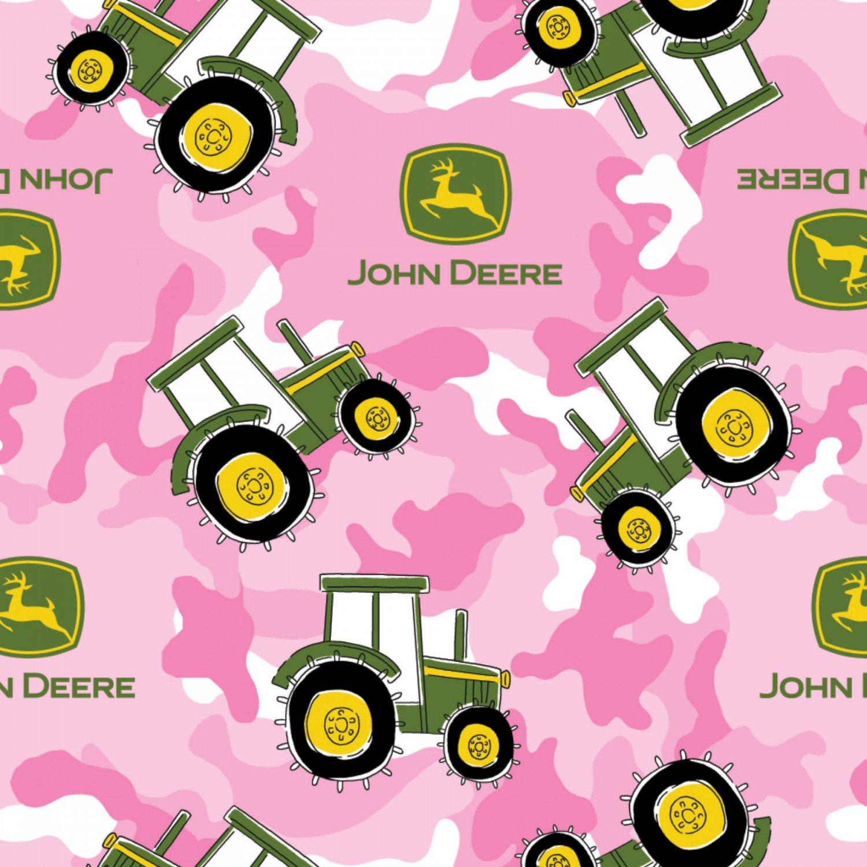 John Deere - Pink Camo Fleece