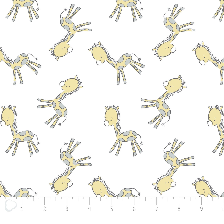 Camelot Fabrics - Tiny Giraffe - White