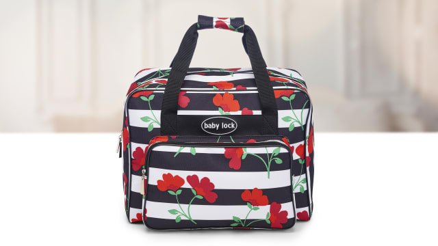 Baby Lock - Sewing Machine Tote - Floral Stripe