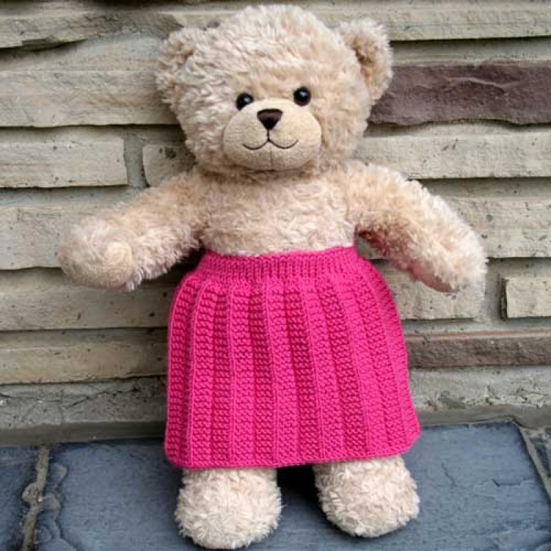 Knitca - Teddy Lady City: Pleated Skirt Knitting Pattern