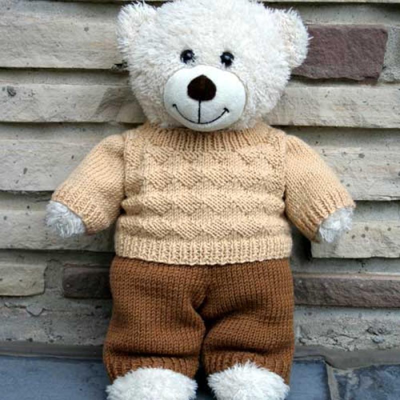 Knitca Teddy Dandy City Diamonds Sweater Knitting Pattern