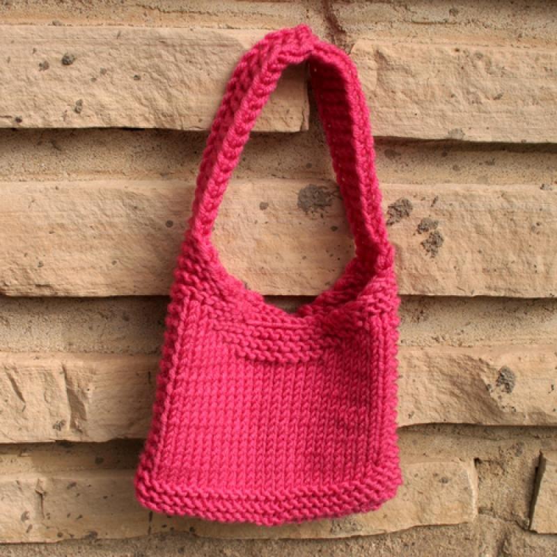 Knitca - Teddy Lady City: Tote Bag Knitting Pattern