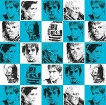 Camelot Fabrics  - Star Wars III - Characters in Blue