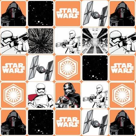 Camelot Fabrics - Star Wars - The Force Awakens Grid - Orange