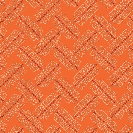 Camelot Fabrics - Star Wars - Orange The Force Awakens Logo