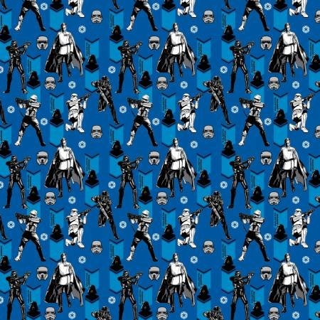 Camelot Fabrics - Star Wars - Rogue One Imperial Army - Royal Blue