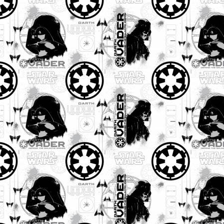 Camelot Fabrics - Star Wars - Roque One Darth Vader - White