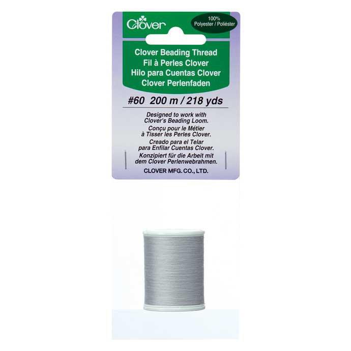Clover - Beading Thread - Light Gray