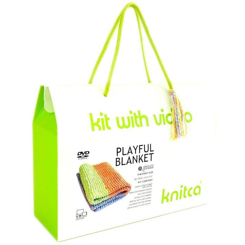 knitca - Playful Blanket - Lime