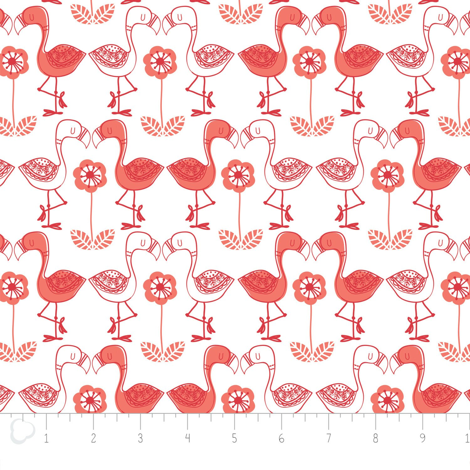Camelot Fabrics - Flamingo Kisses Printed Flannel - White