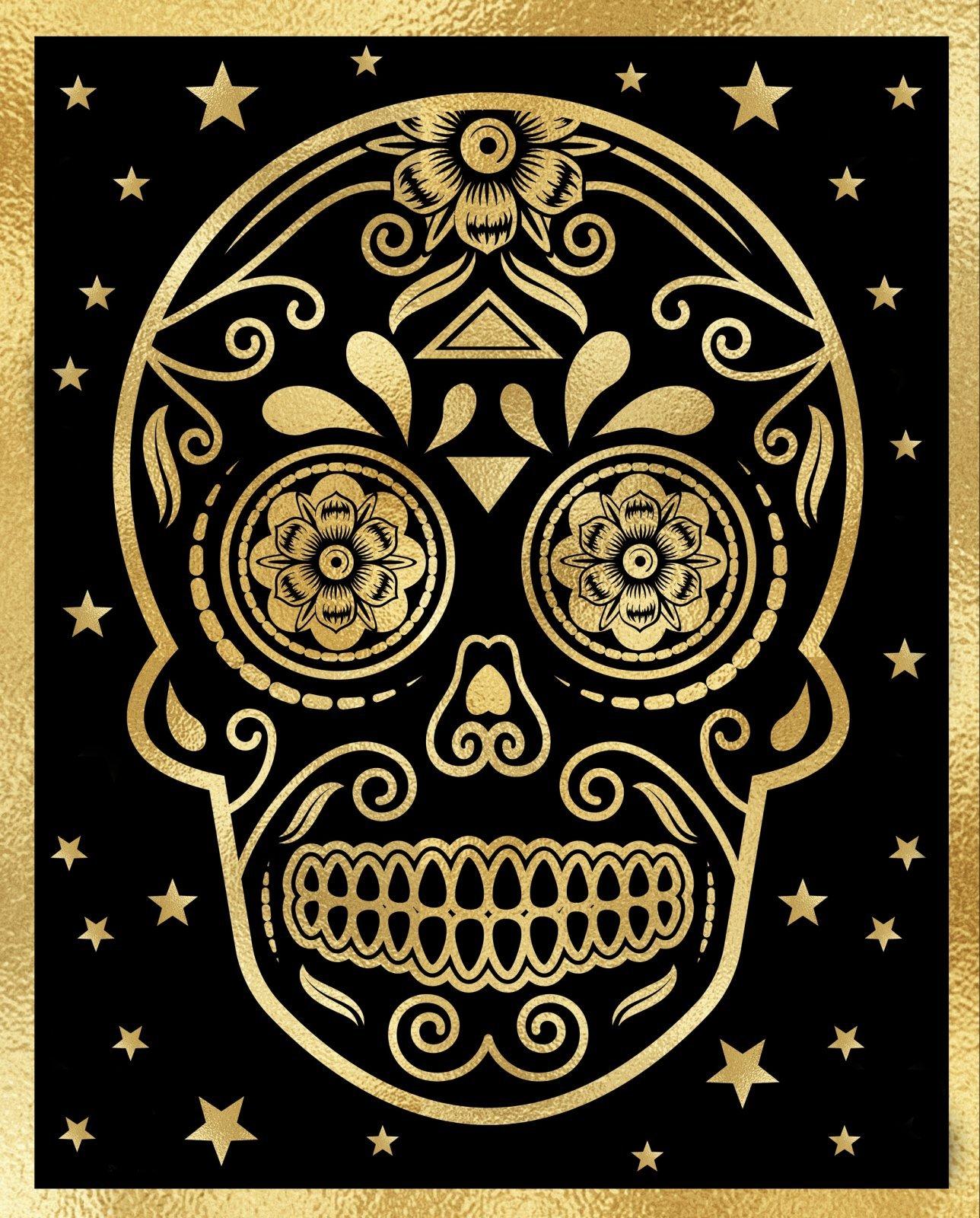 Skull Metallic Panel