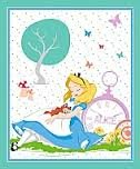 Springs Creative - Disney - Alice In Wonderland and Cat Napping Panel - Teal
