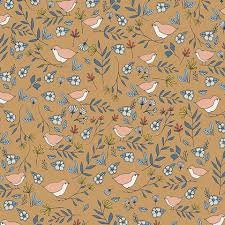 Art Gallery Fabrics - Love Story - Lovebirds - Amber